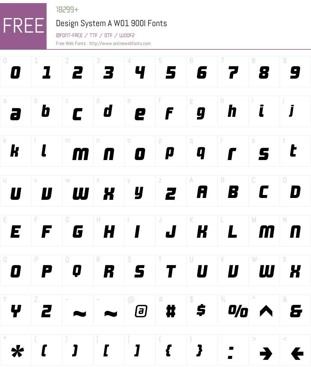 DesignSystemAW01-900I Font Screenshots