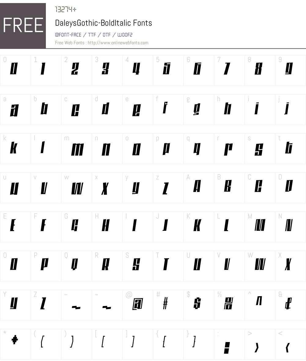 DaleysGothic Font Screenshots