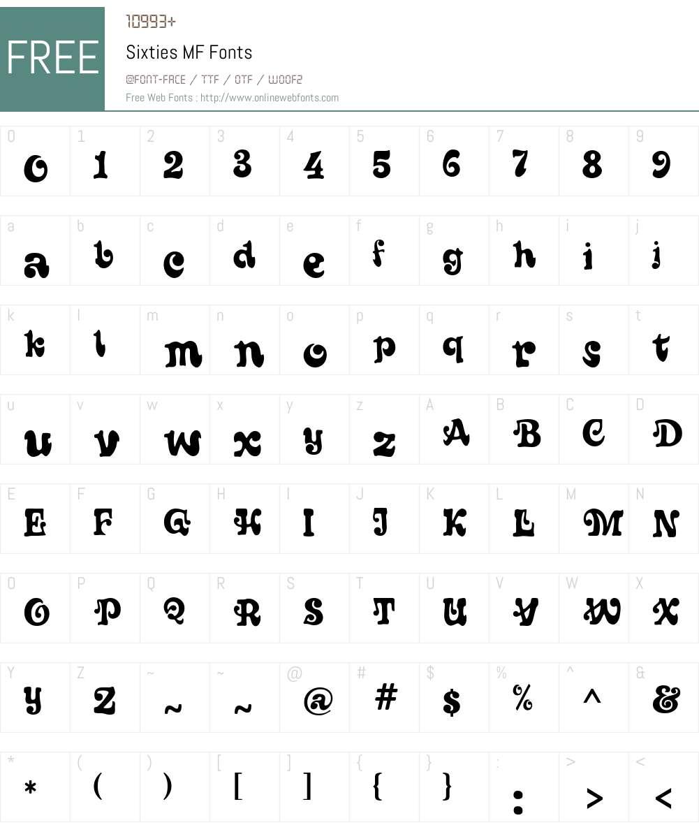 Sixties MF Font Screenshots