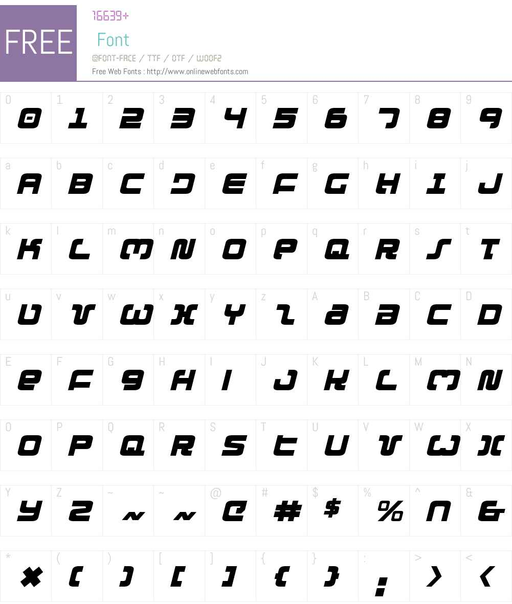 Exedore Italic Font Screenshots