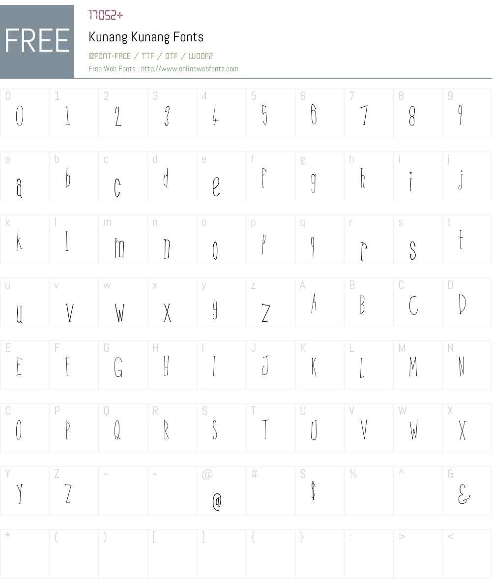 Kunang Kunang Font Screenshots