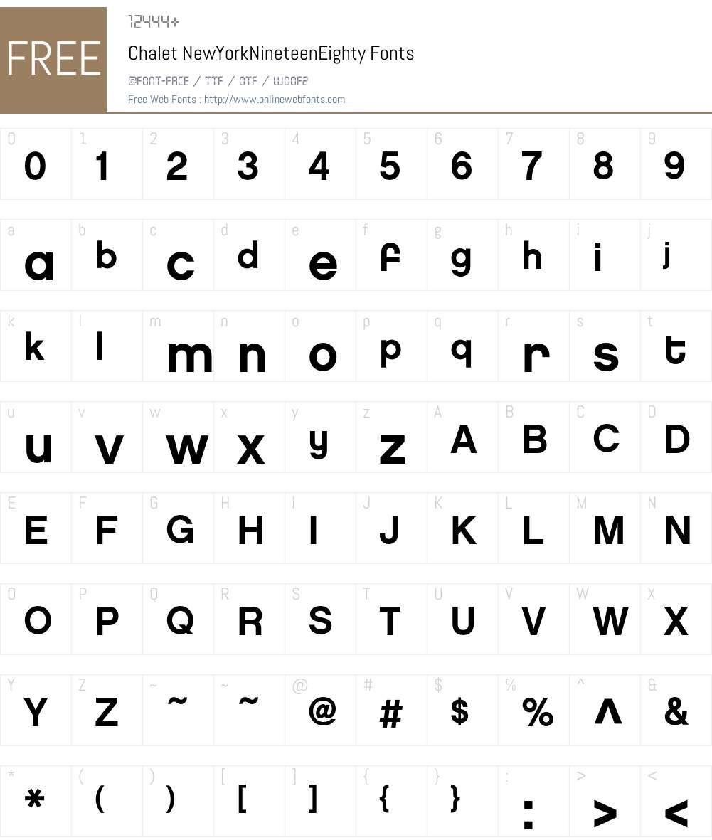 Chalet Font Screenshots