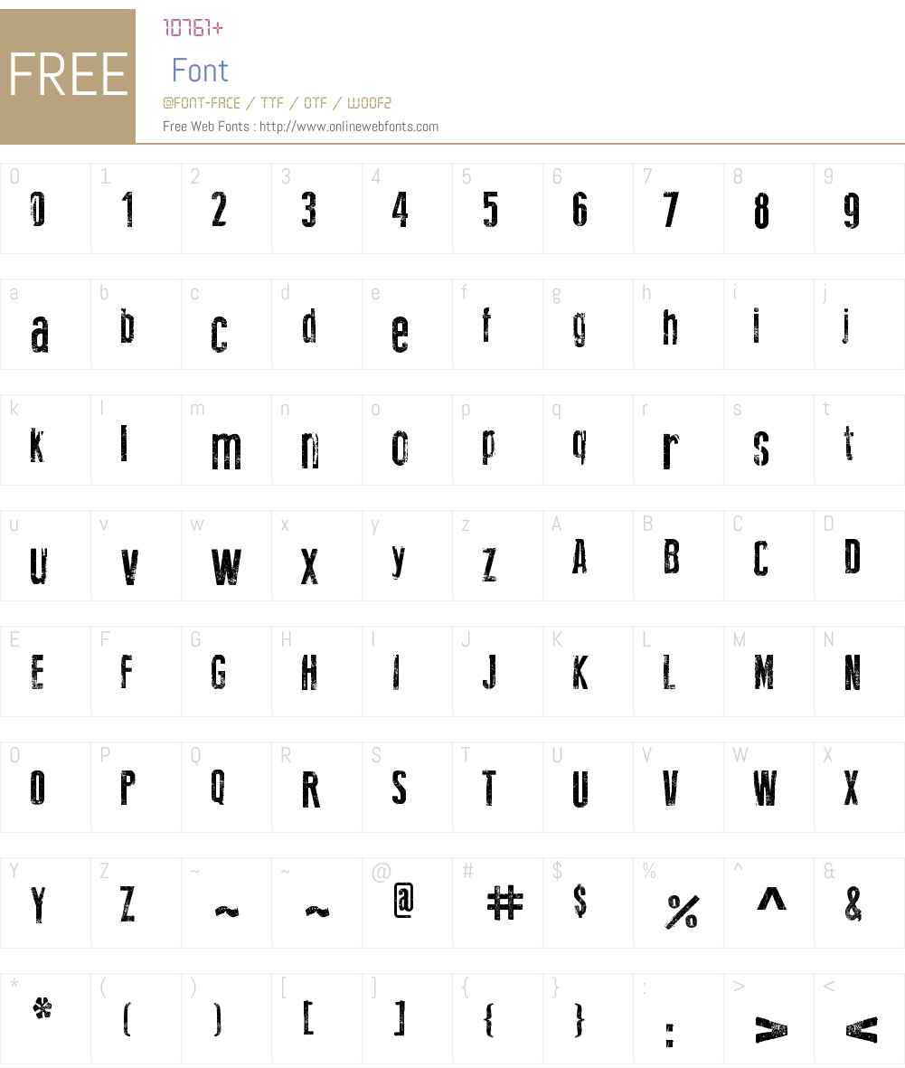 New Press Eroded Font Screenshots