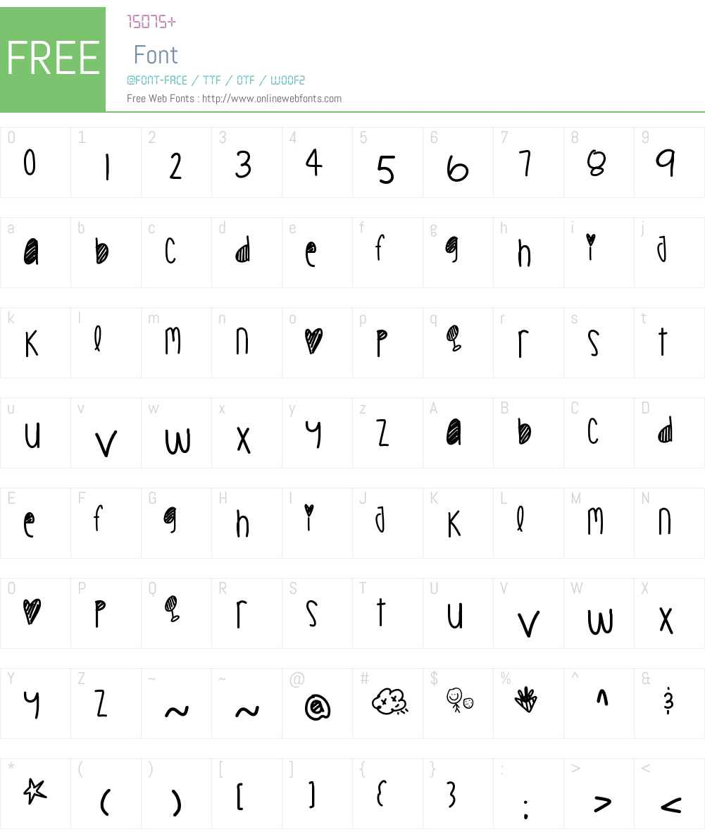 CookieChips Font Screenshots
