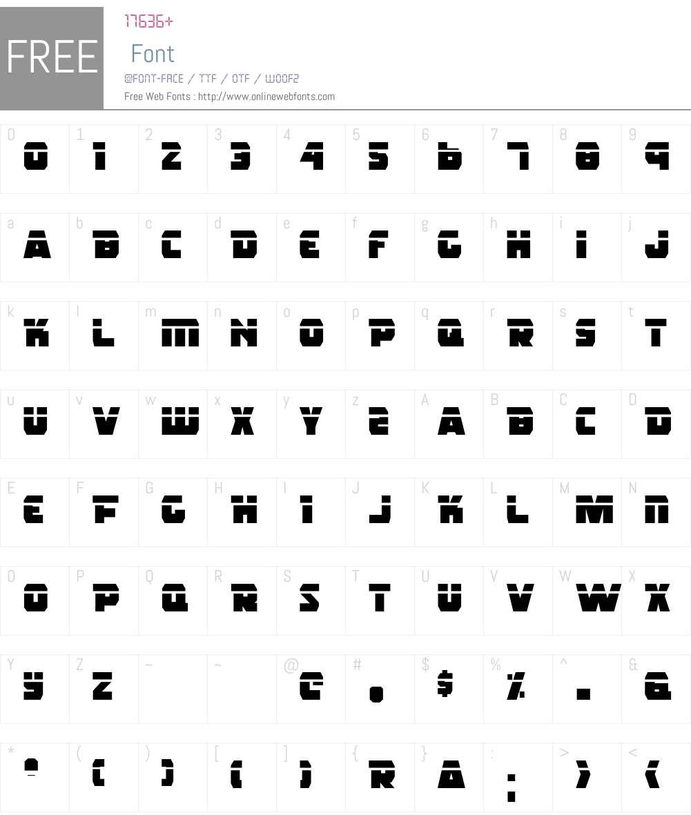Rogue Hero Laser Font Screenshots