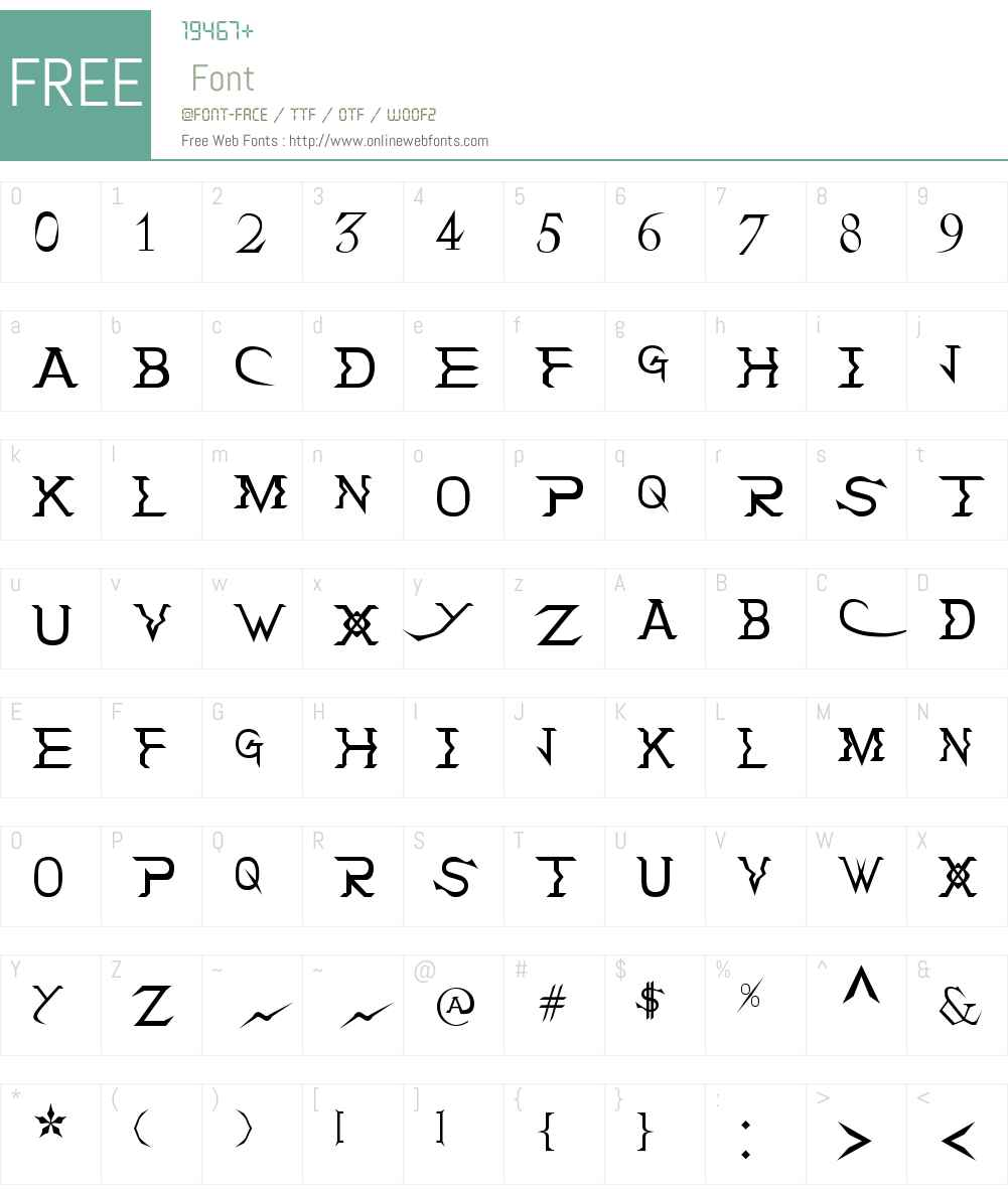 Holitter Tittanium Font Screenshots