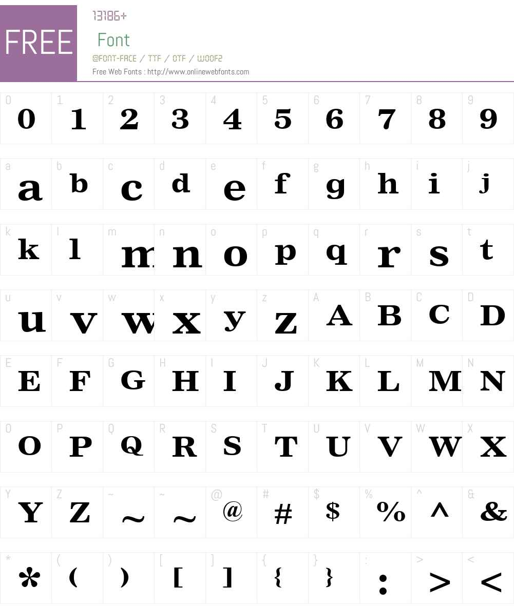 NimrodW01-SmallAdsBold Font Screenshots