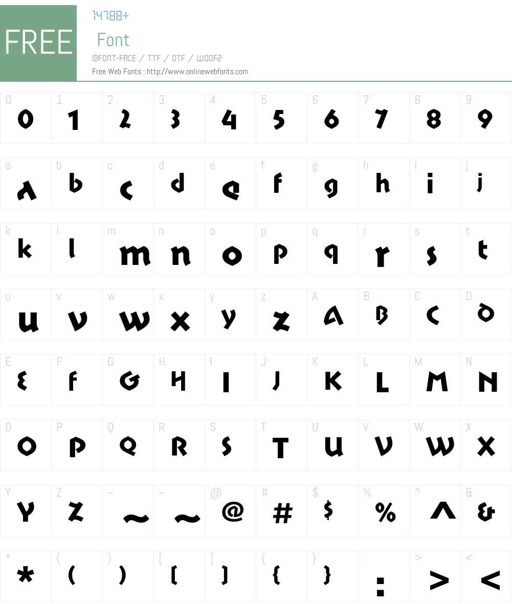 Motter Sparta ITC Std Font Screenshots
