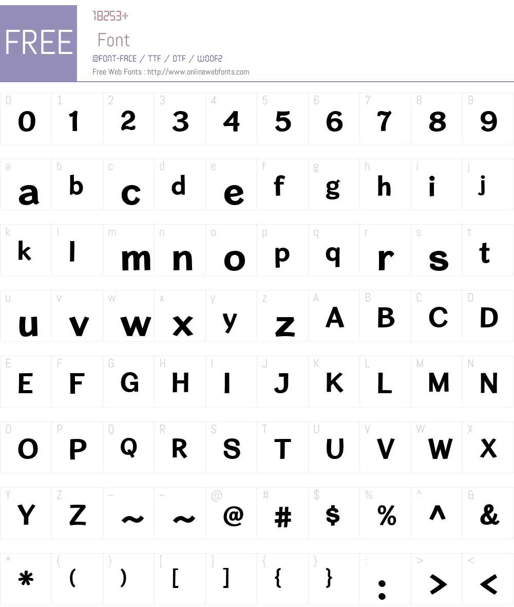 CardiganW00-Bold Font Screenshots