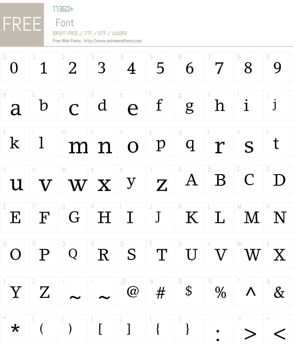 LinoLetter Font Screenshots