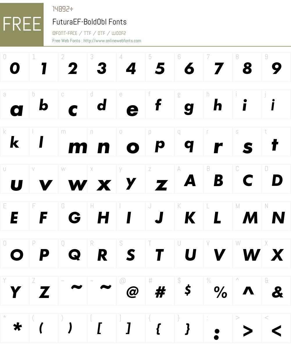 FuturaEF Font Screenshots