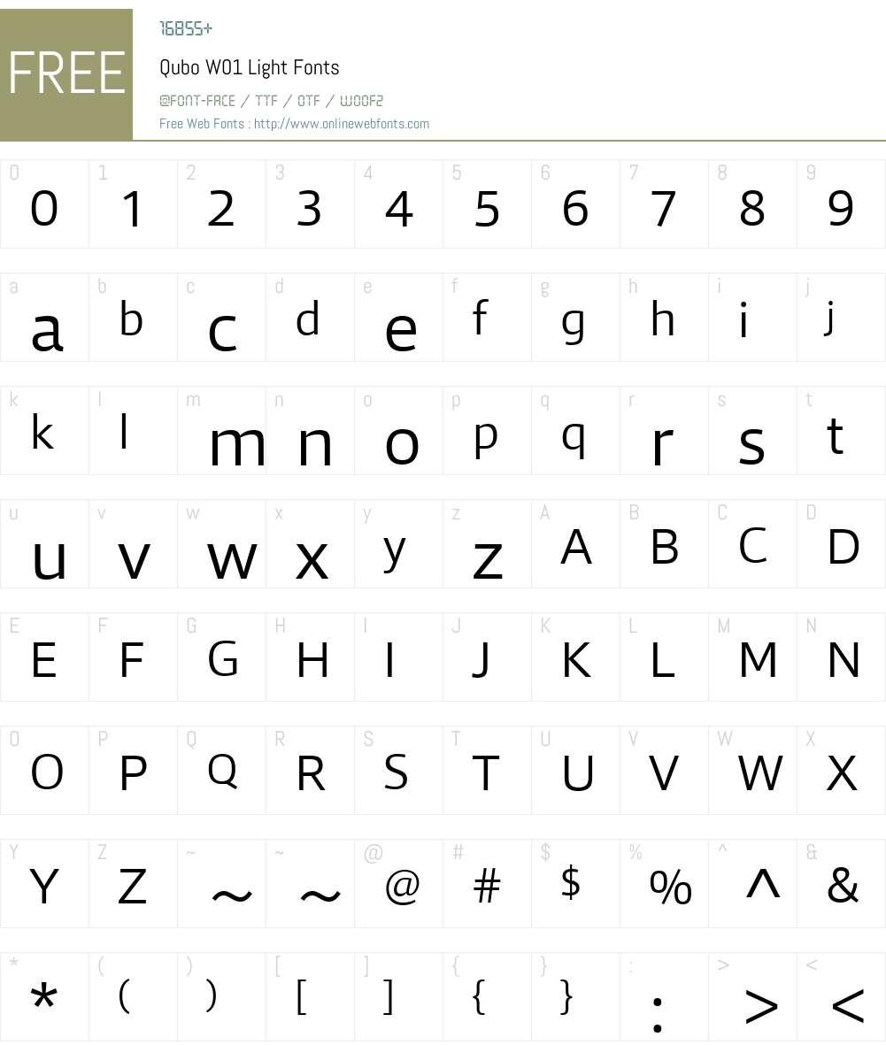 QuboW01-Light Font Screenshots