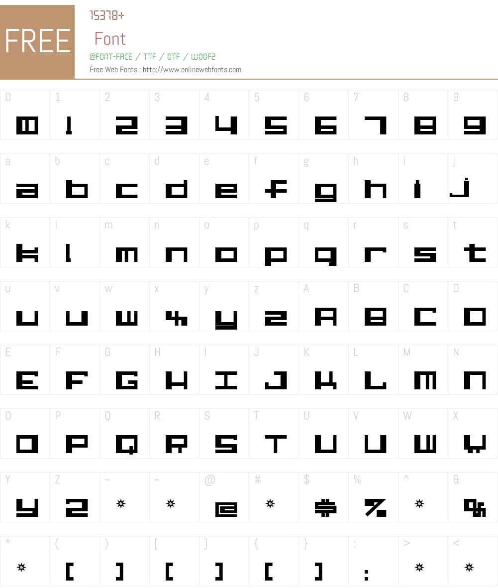 Alphastep Font Screenshots