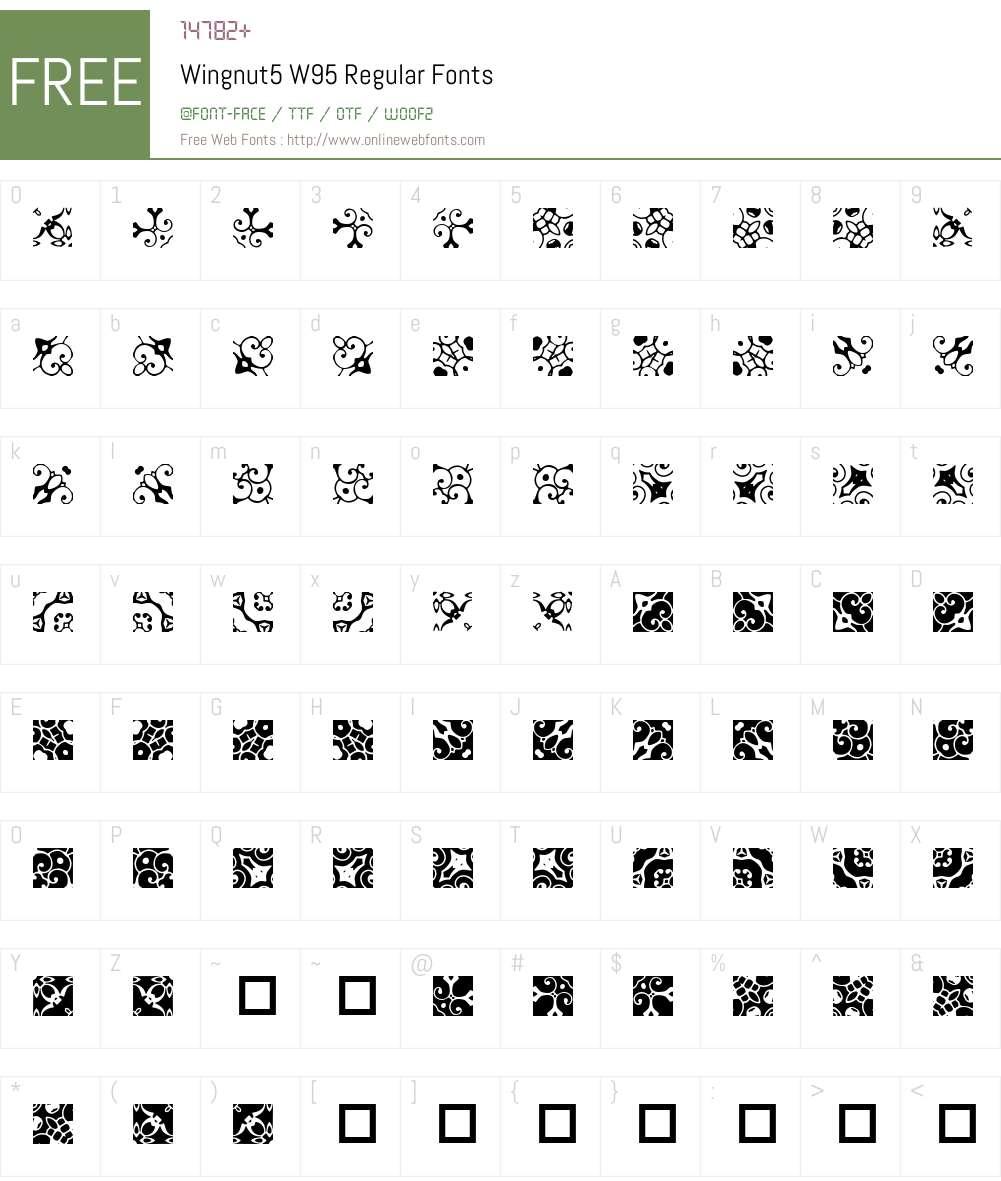 Wingnut5 Font Screenshots