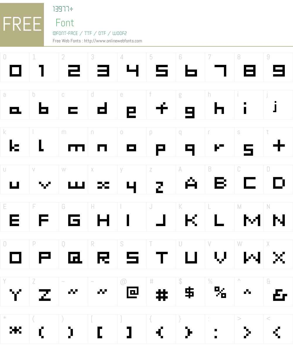 DustDot Font Screenshots