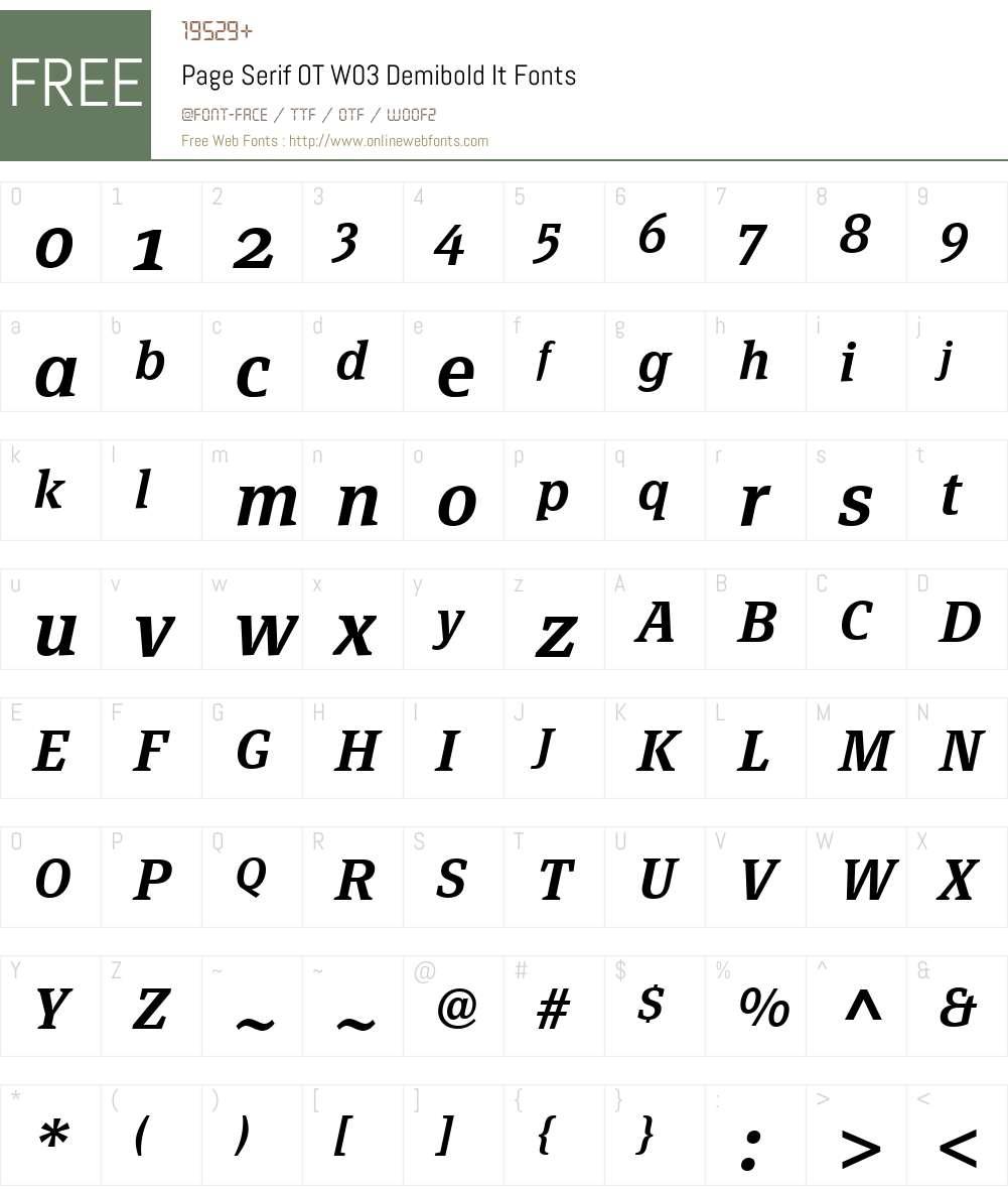 FF Page Serif Font Screenshots