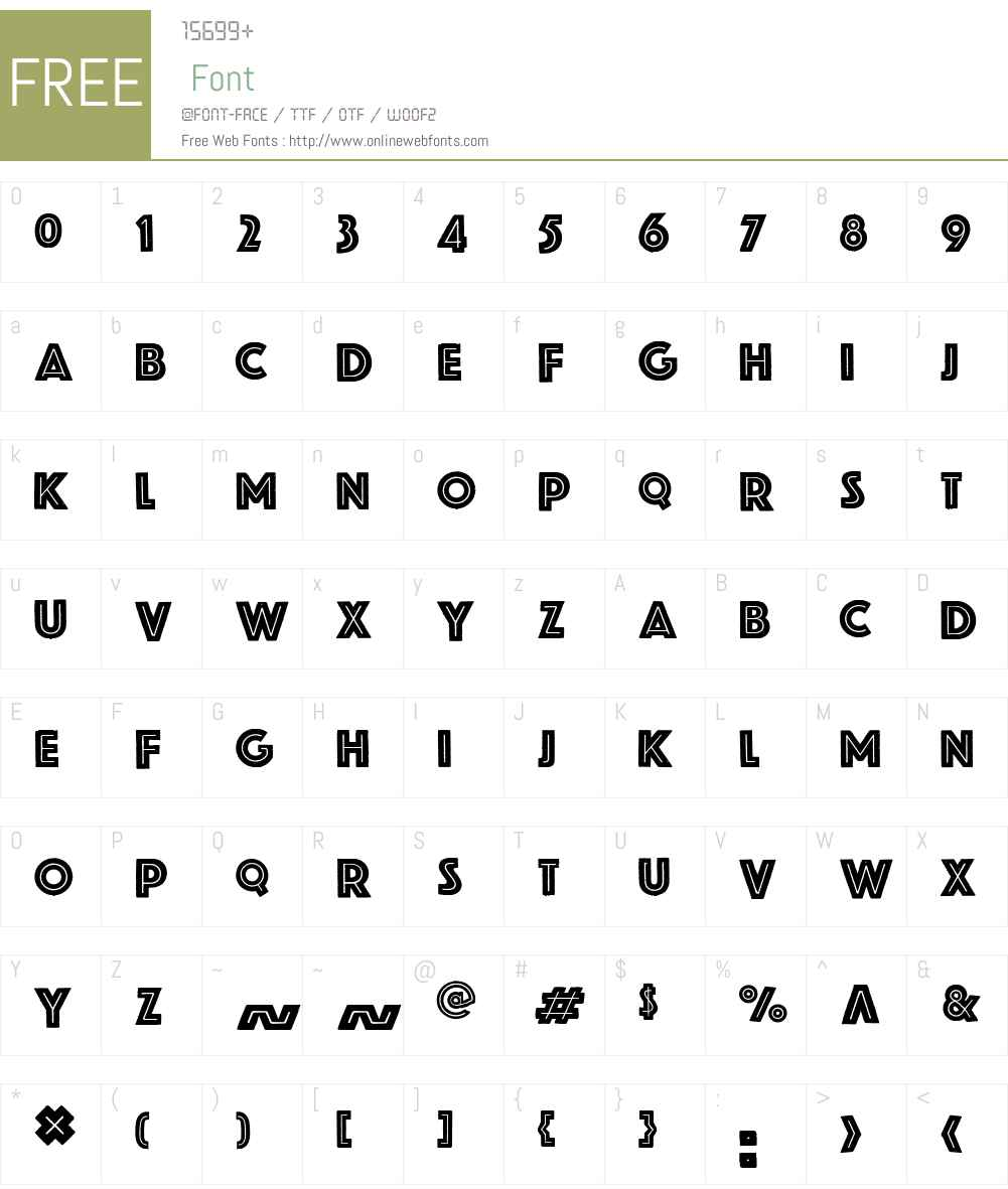 Gardaempty Font Screenshots