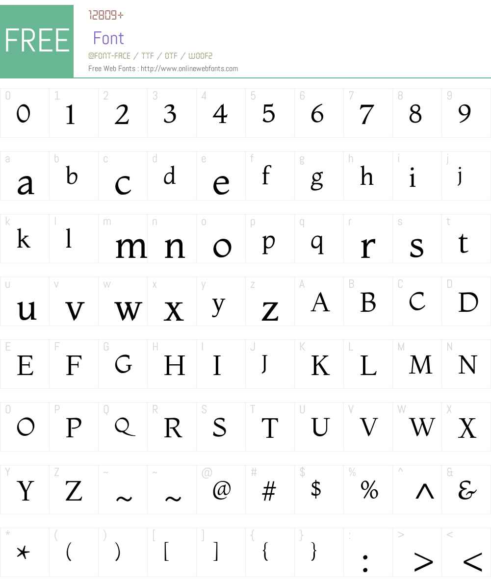 Montaga Font Screenshots