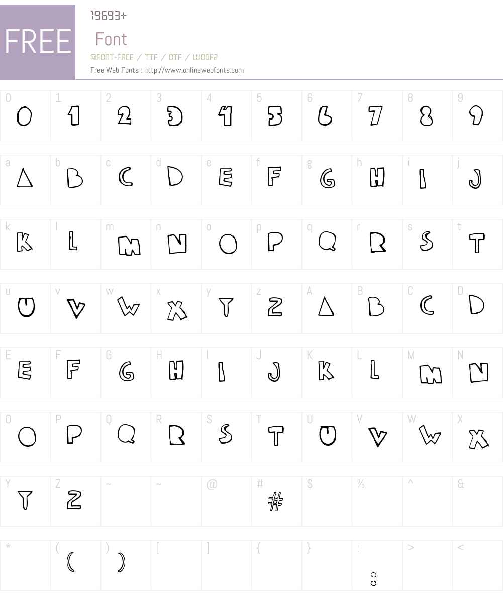 klam Font Screenshots