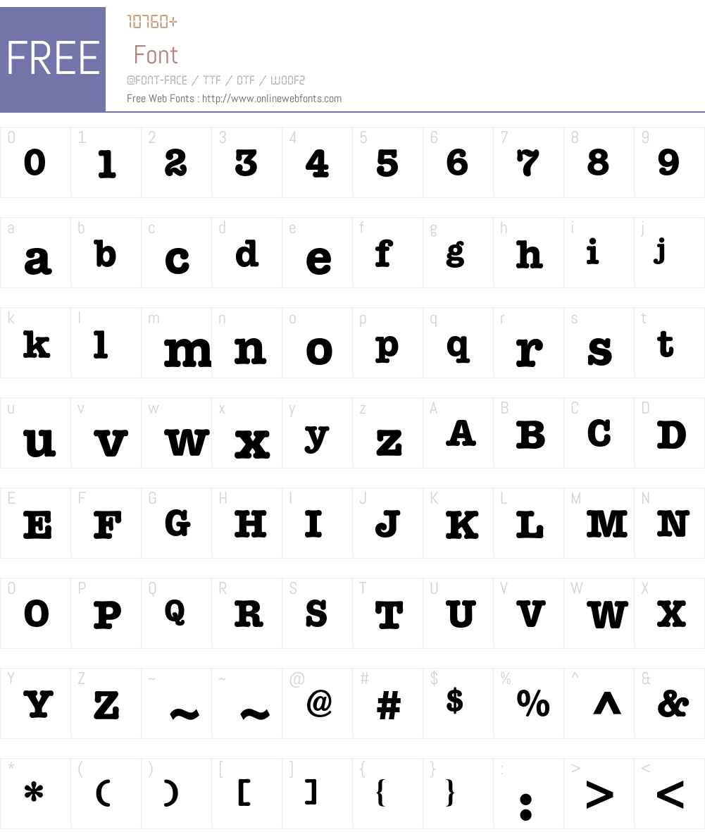 American Typewriter BQ Font Screenshots