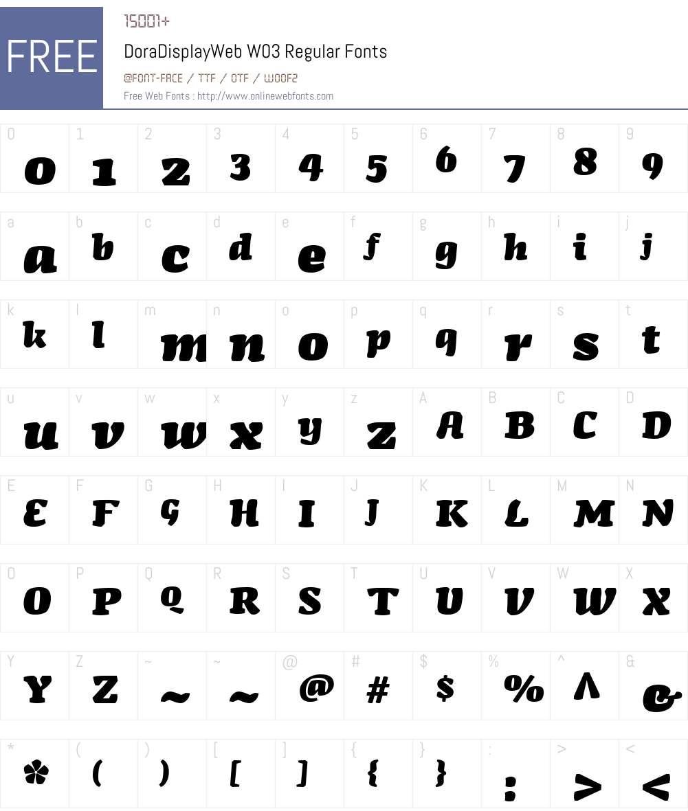 FF Dora Display Font Screenshots