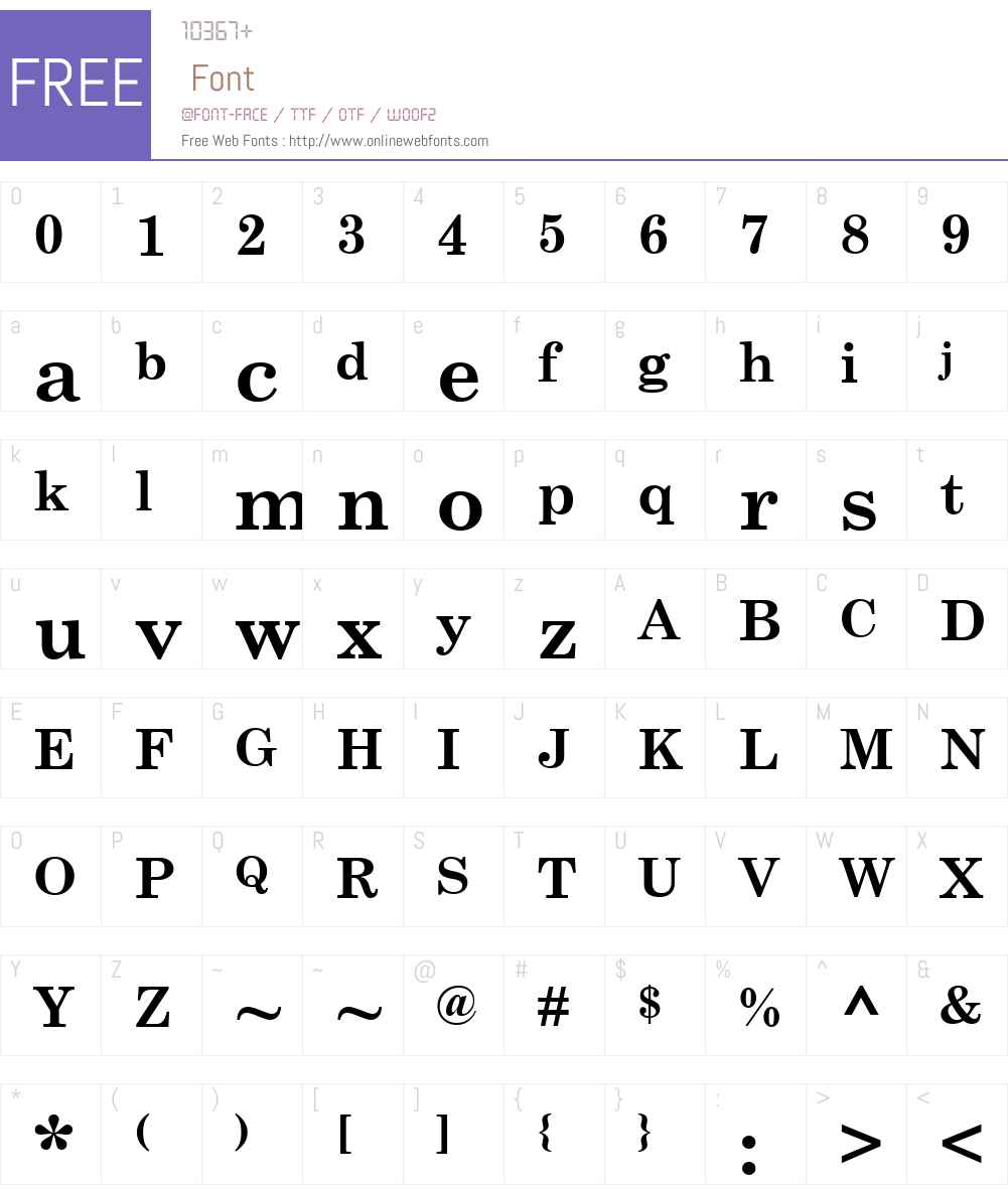 CenturySchool Font Screenshots