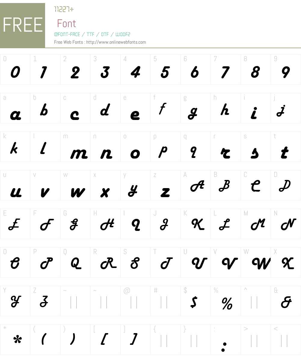 HarlowSolidW00 Font Screenshots