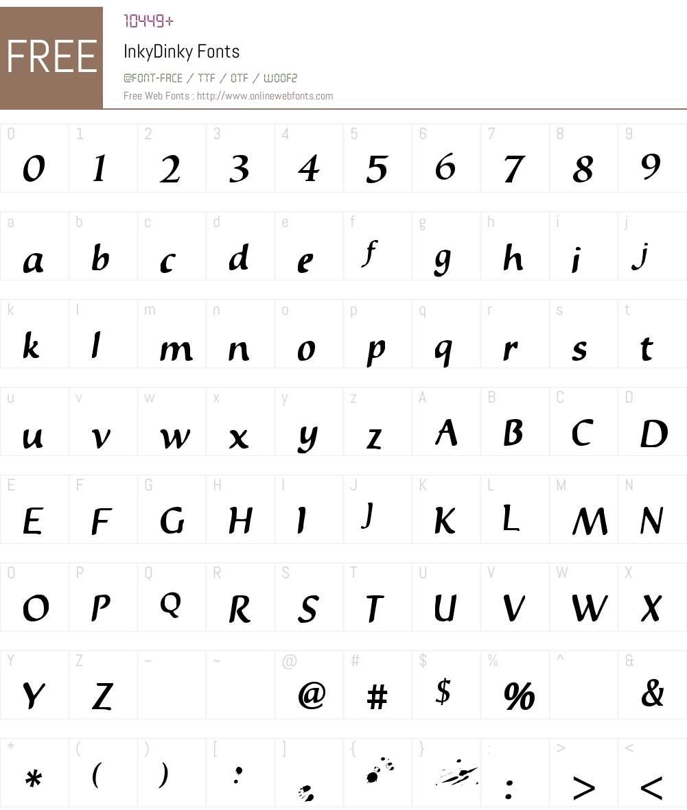 InkyDinky Font Screenshots