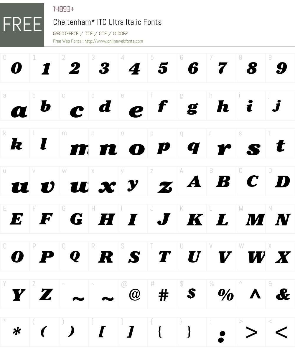Cheltenham ITC BQ Font Screenshots