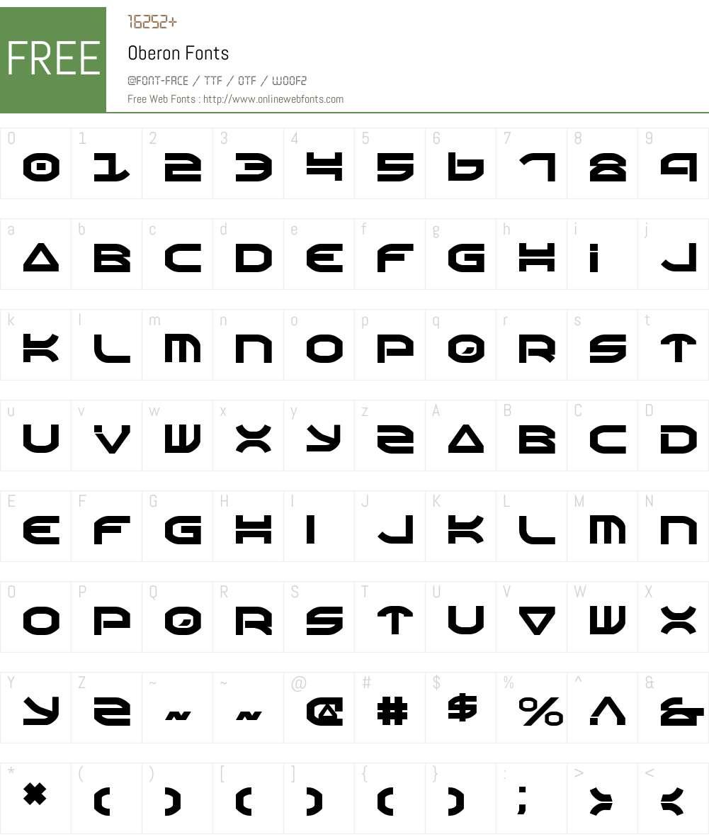 Oberon Font Screenshots