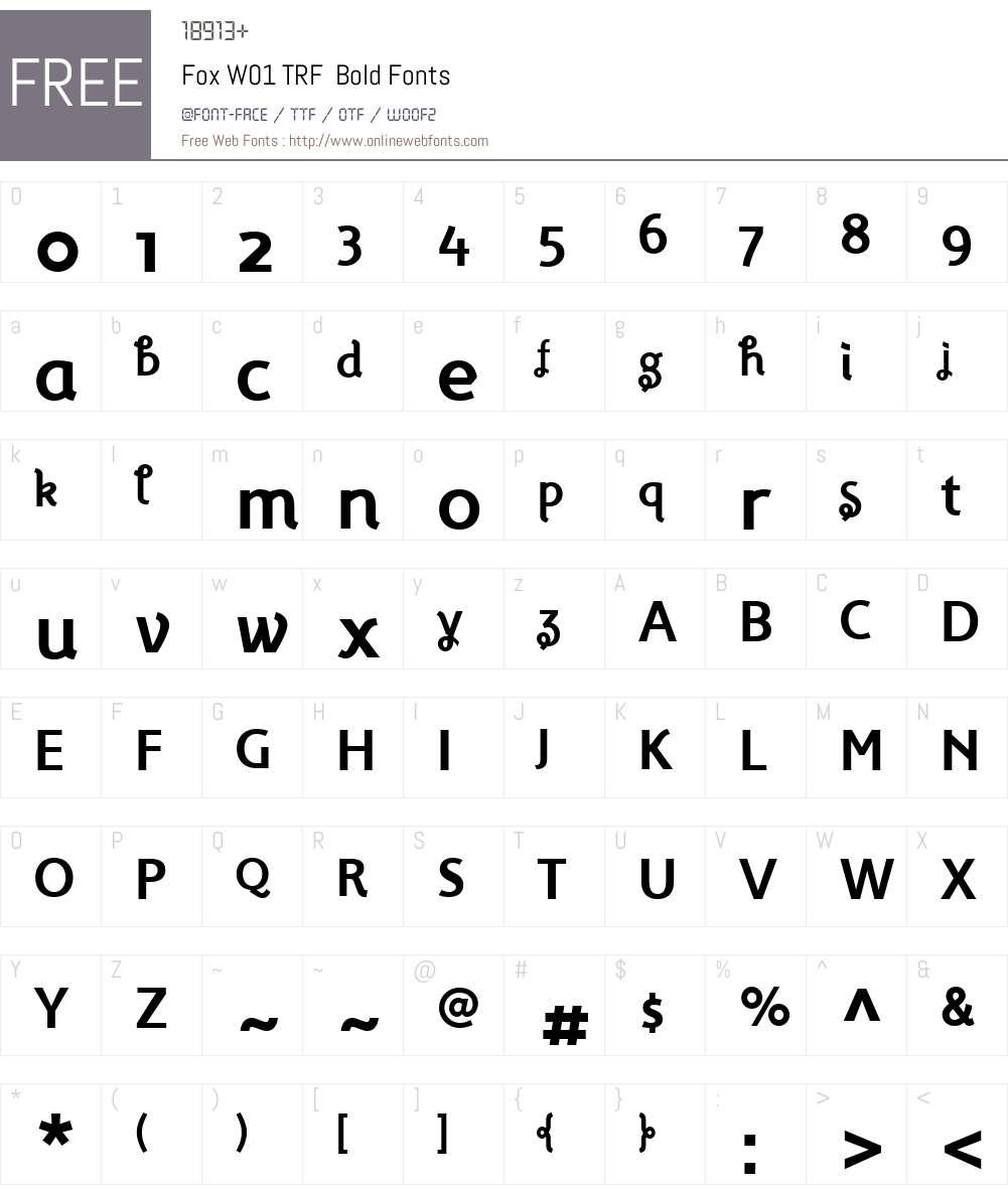 FoxW01-TRFBold Font Screenshots