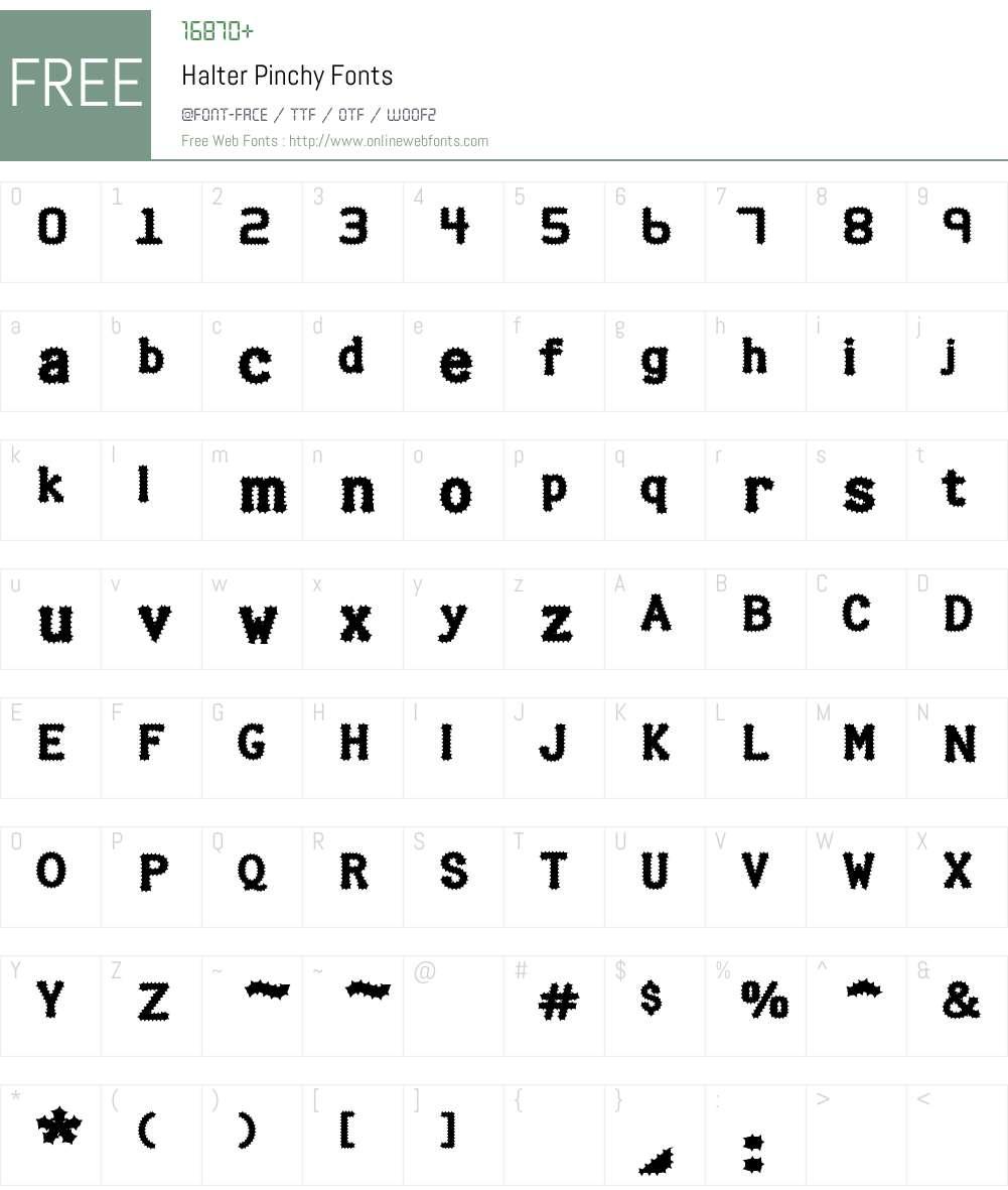 Halter Pinchy Font Screenshots