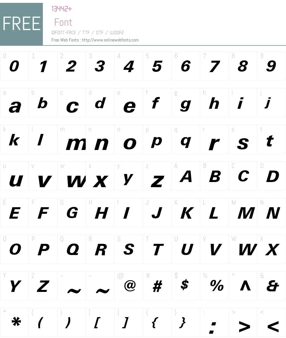 LinotypeUniversW01-HeavyIt Font Screenshots