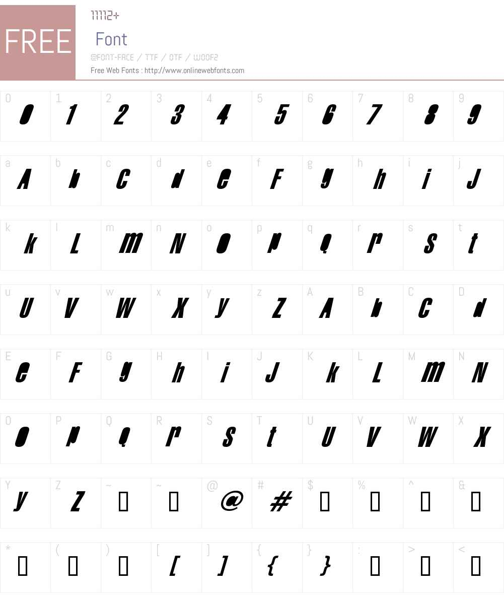 Swis AntiNormal Condensed Font Screenshots