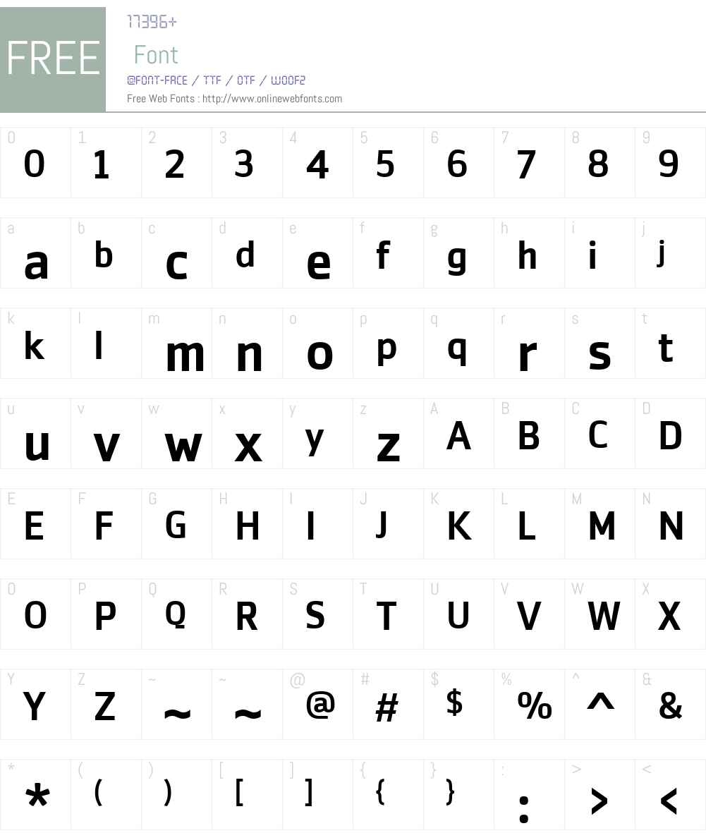 ZemestroW01-Medium Font Screenshots