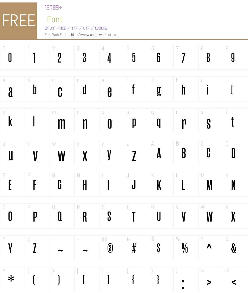 RamaGothicMW01-SemiBold Font Screenshots