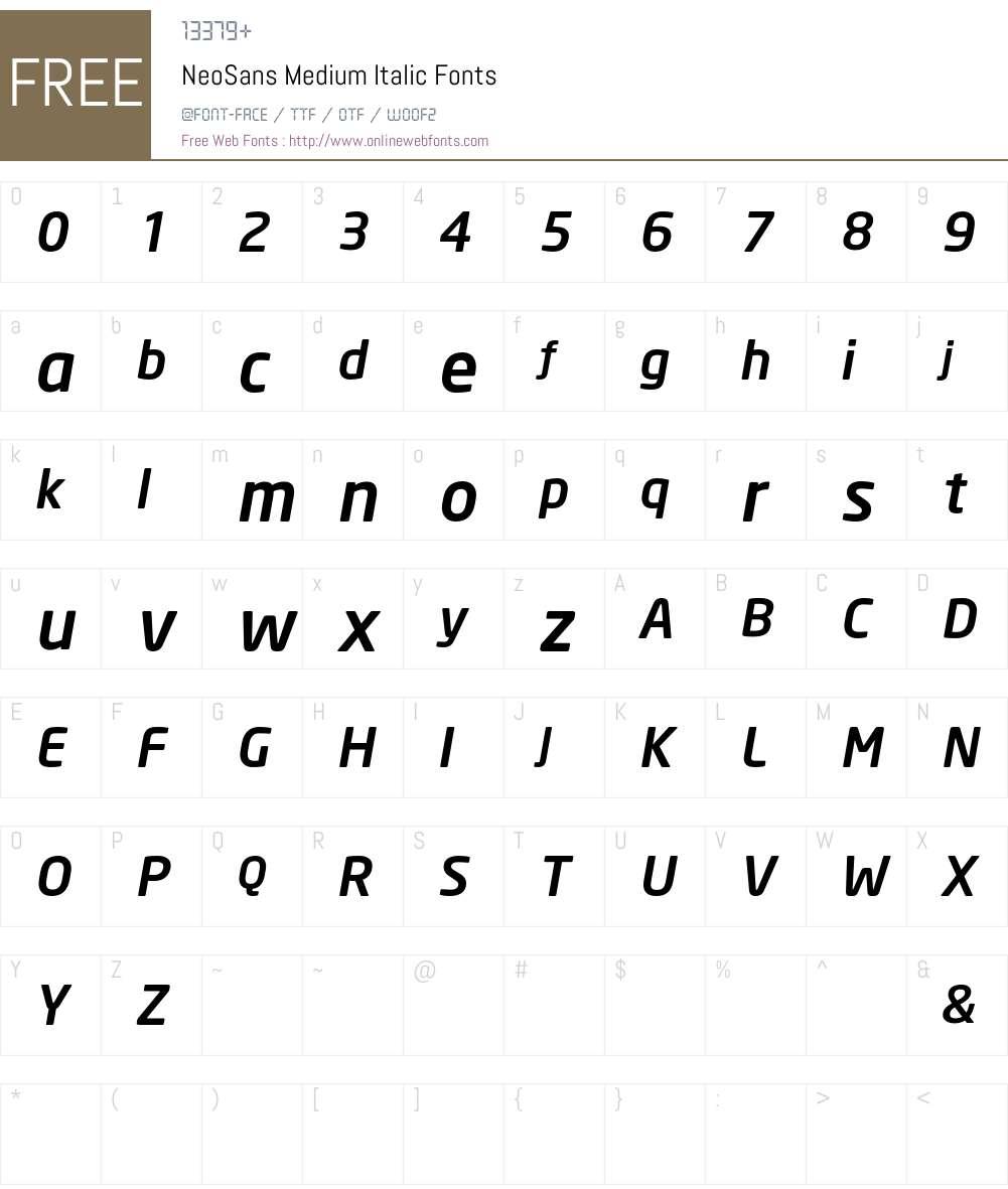 NeoSans Font Screenshots