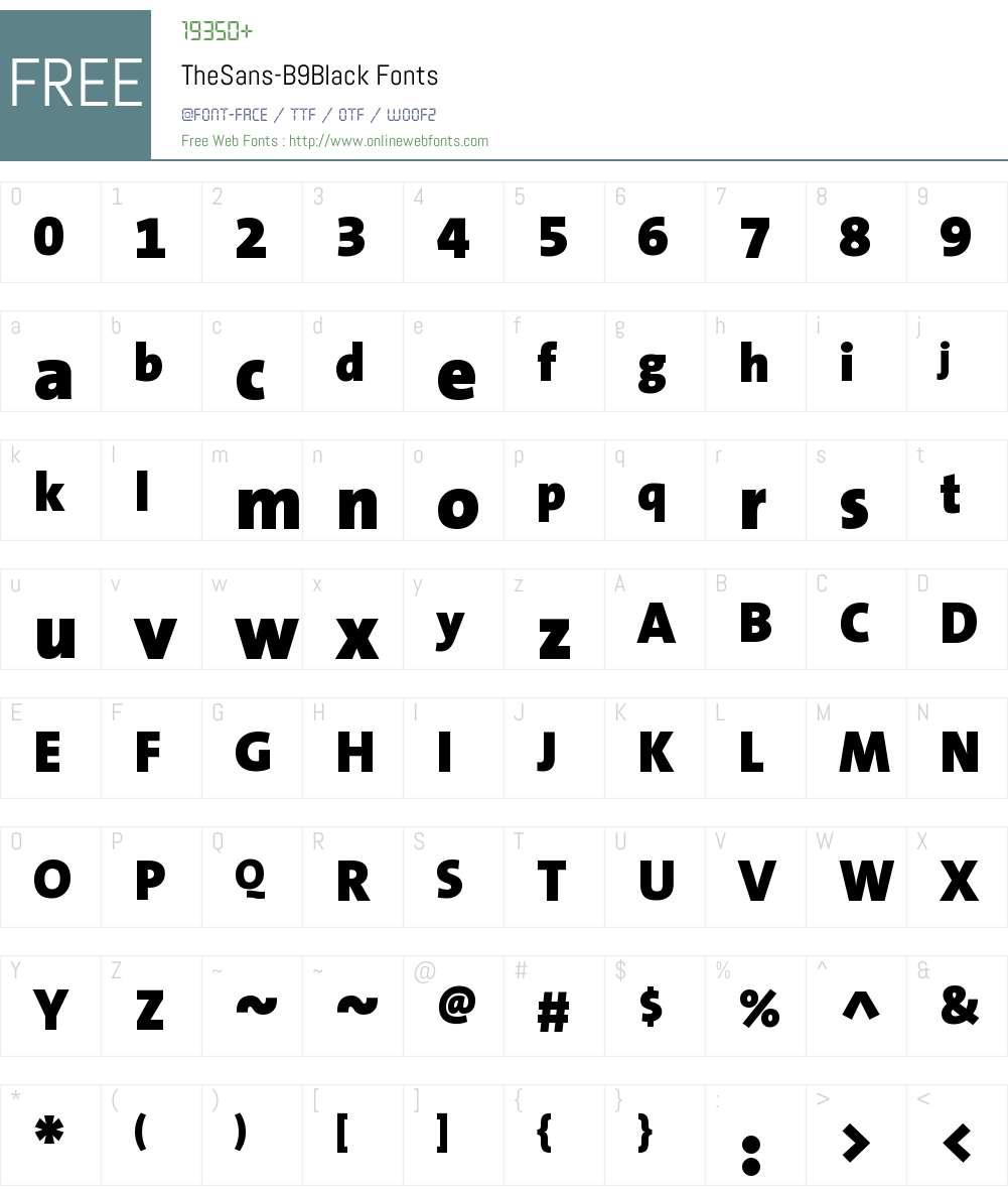 TheSans B9 Black Font Screenshots