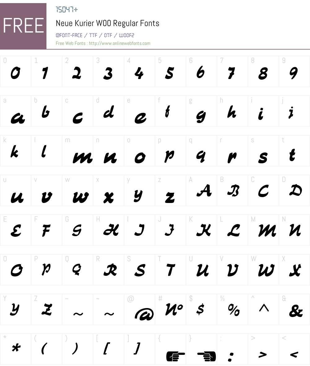 NeueKurierW00-Regular Font Screenshots