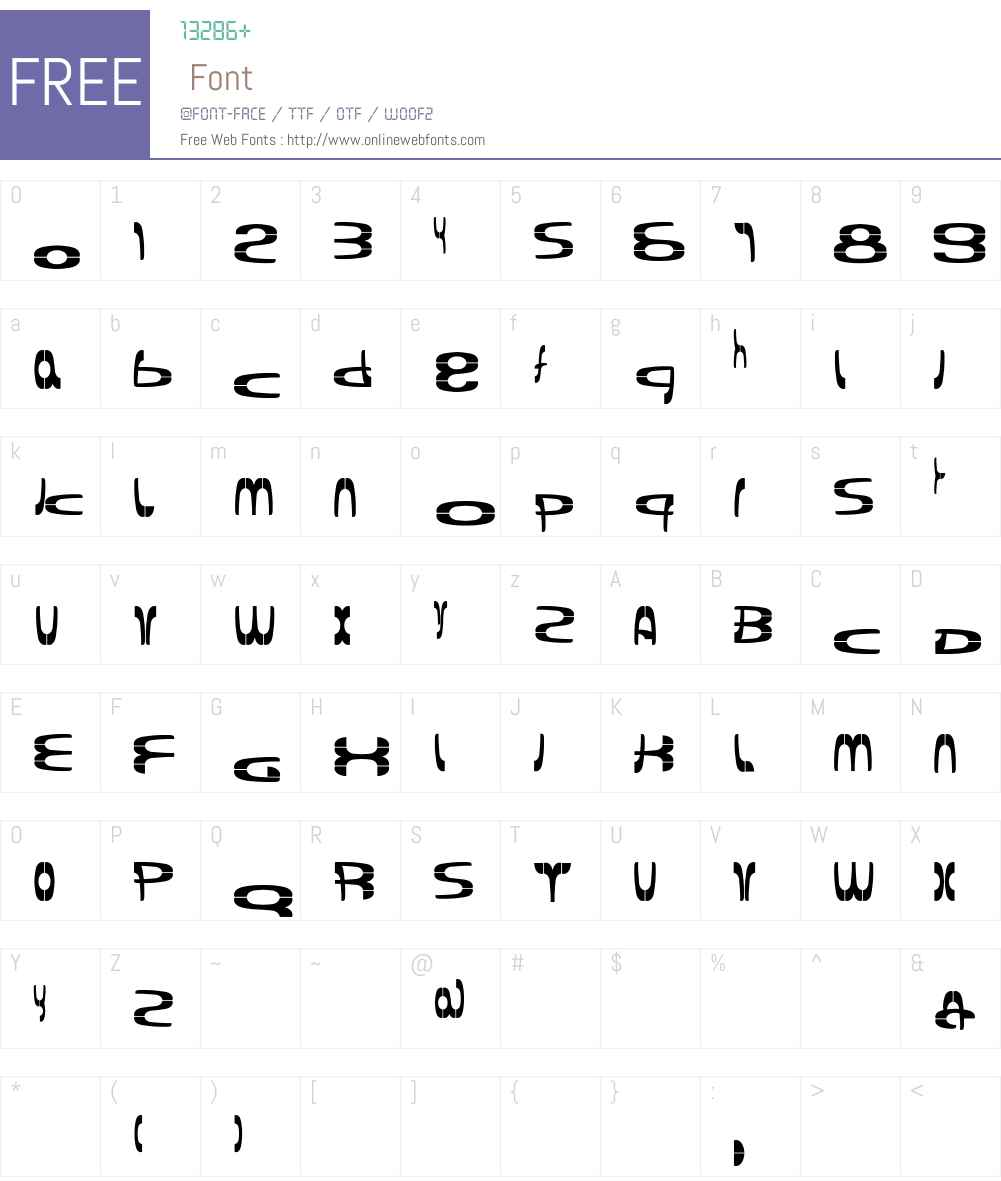 Pipeface Font Screenshots