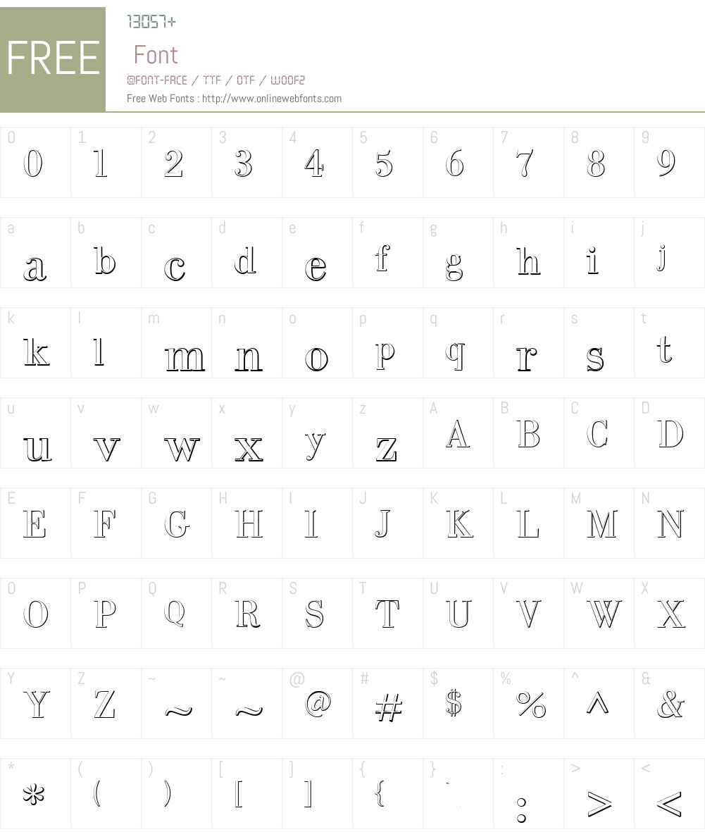 IntellectaBodoned Beveled Font Screenshots