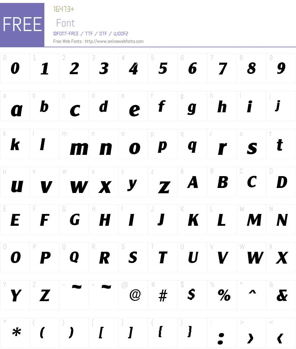 ClearGothicSerial-Xbold Font Screenshots