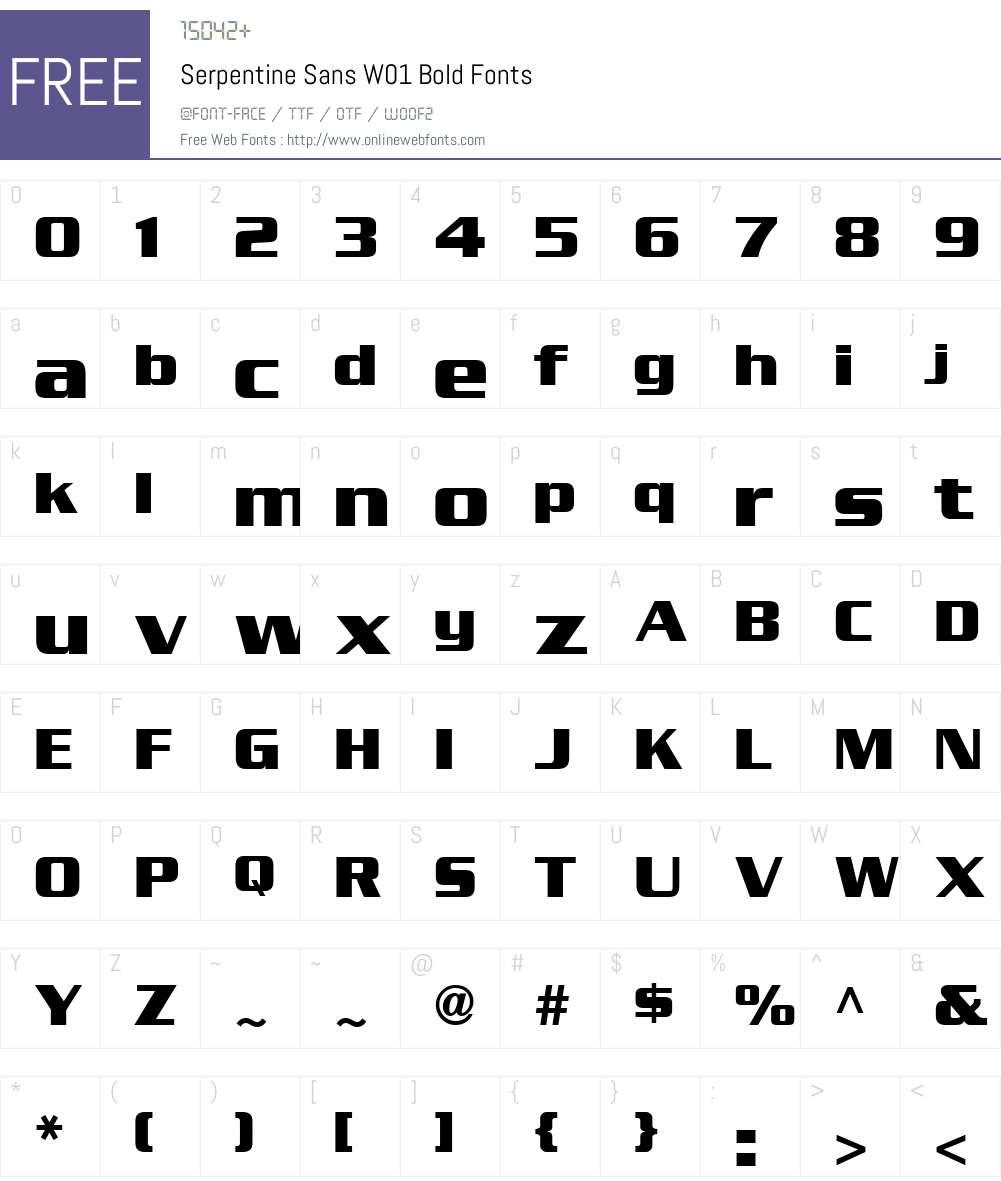SerpentineSansW01-Bold Font Screenshots