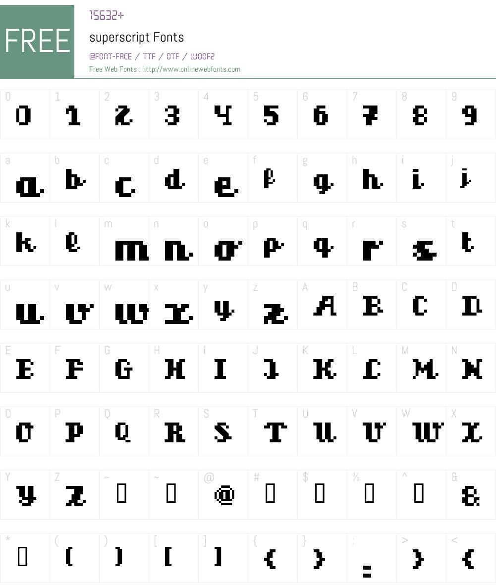 superscript Font Screenshots