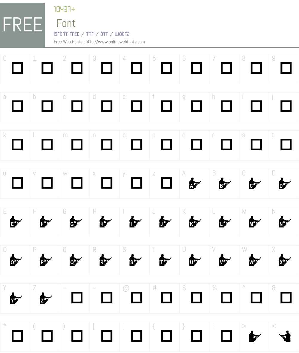 KR Steve's Solo Font Screenshots