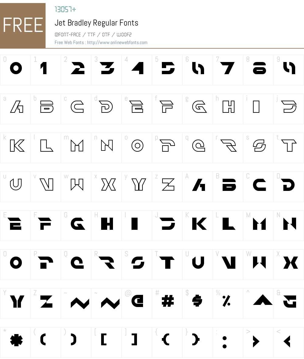 Jet Bradley Font Screenshots