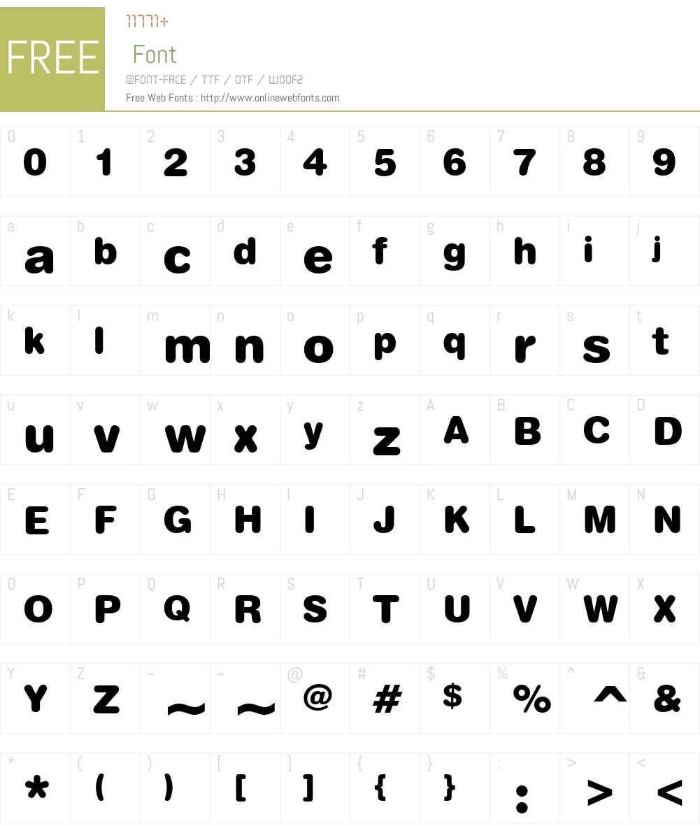 Swiss721W01-RoundedBlack Font Screenshots