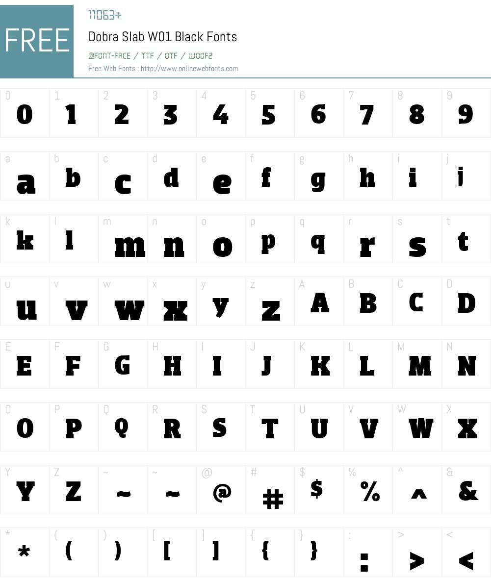 DobraSlabW01-Black Font Screenshots