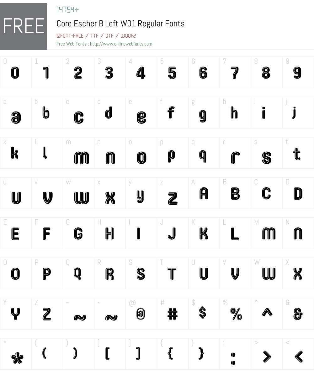 CoreEscherBLeftW01-Regular Font Screenshots
