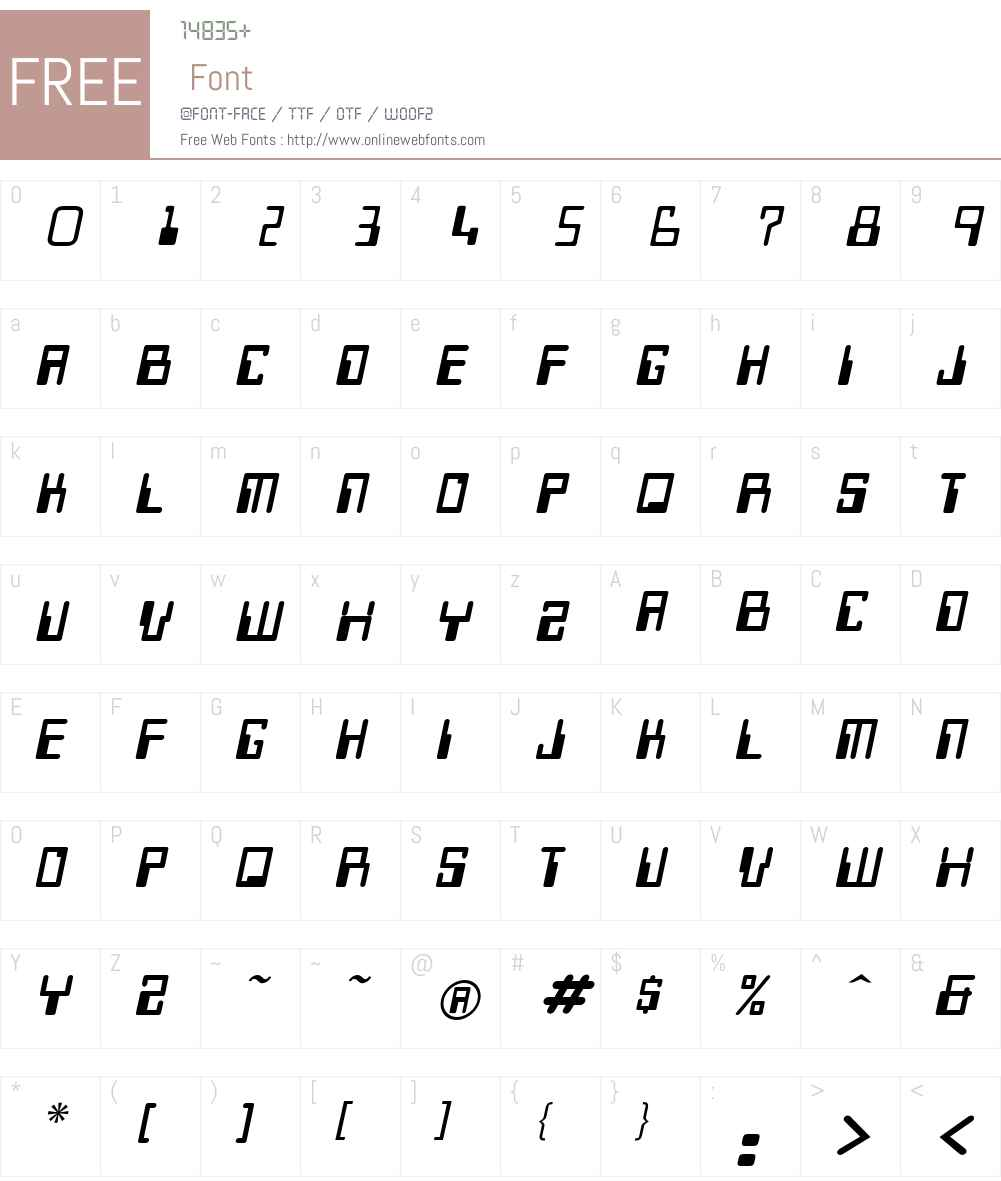 Keys Font Screenshots